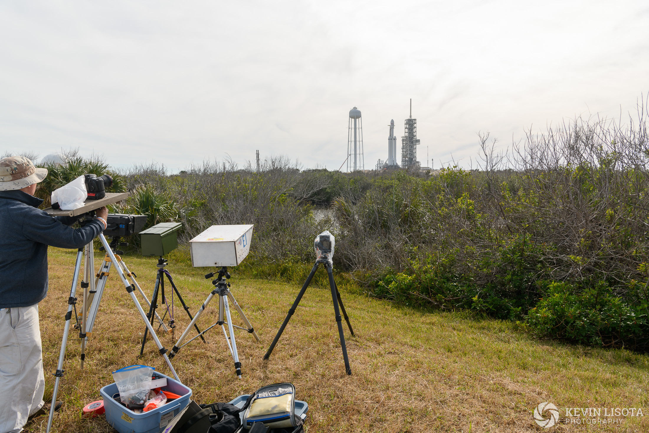 Camera location #1 ~2200 ft away from launchpad