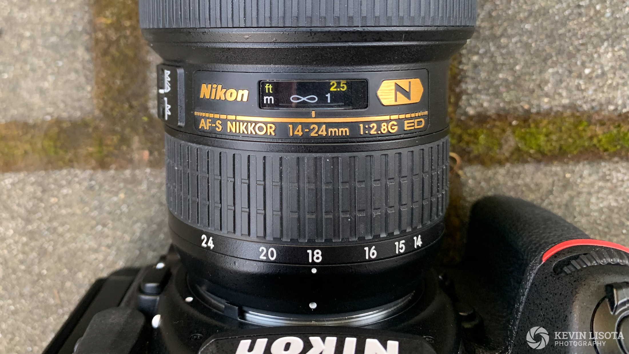 Nikon 14-24mm focused to infinity