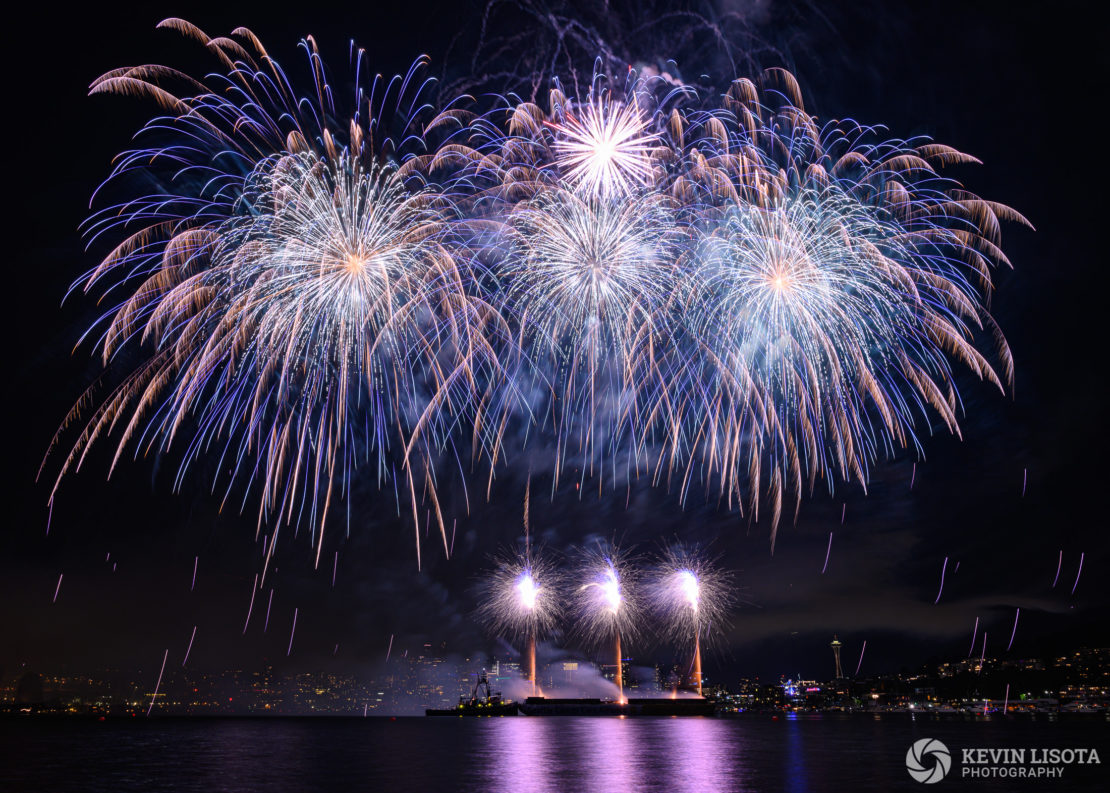 Seattle 4th of July Fireworks from Gas Works Park 2019