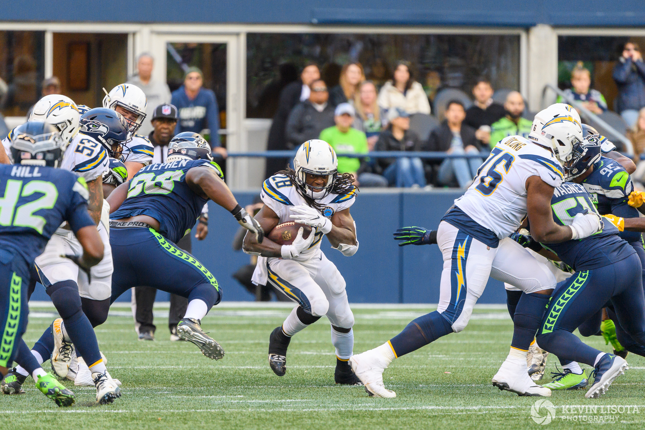 Melvin Gordon III - Seattle Sehawks vs. Los Angeles Chargers - November 4, 2018