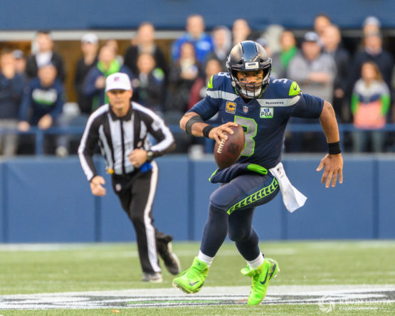 Russell Wilson - Seattle Sehawks vs. Los Angeles Chargers - November 4, 2018